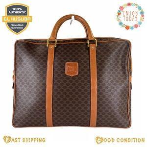 Celine business bag macadam bag brown tan